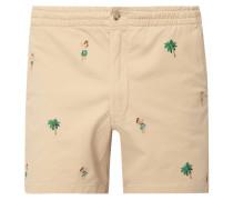 Stretch Classic Fit Shorts mit Stickereien