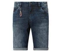 Regular Slim Fit Jeansshorts mit Kontrastnähten