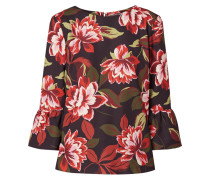 Blusenshirt aus Krepp mit floralem Muster