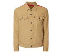 Jacke aus Baumwolle mit Kontrastrückseite