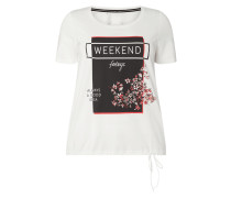PLUS SIZE T-Shirt mit Message-Print