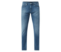 Slim Fit Jeans mit Stretch-Anteil Modell 'Delaware'