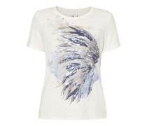 T-Shirt mit Motiv-Print und Glitter-Effekt
