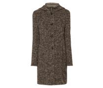 Mantel aus Bouclé mit Kontrastblende