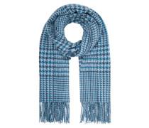 Schal aus Wolle mit Hahnentritt-Dessin
