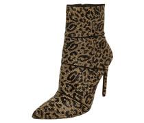Stiefelette mit Leopardenmuster