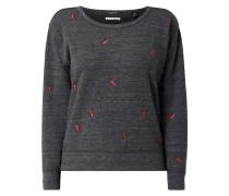 Sweatshirt mit Motiv-Stickereien