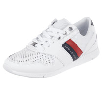 Sneaker mit Meshbesatz