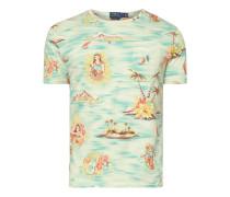 Custom Slim Fit T-Shirt mit Allover-Print