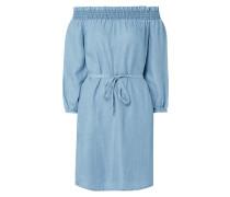 Off-Shoulder-Kleid im Denim-Optik