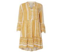 PLUS SIZE Kleid mit Kufiya-Muster Modell 'Marrakesh'