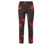 Track Pants mit floralem Muster