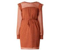 Kleid aus Chiffon mit Rüschen Modell 'Uta'