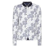 Blazer mit floralem Jacquard-Muster