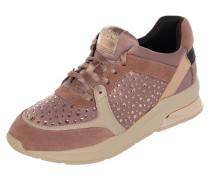 Sneaker Wedges 'Karlie 05' aus Satin und Leder