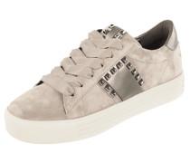 Plateau-Sneaker aus Veloursleder