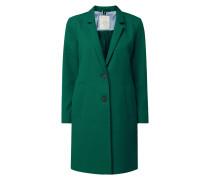 Mantel aus Piqué mit Reverskragen