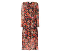 Kleid aus Mesh mit Mustermix