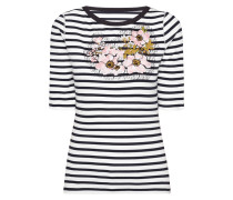 Shirt floralen Aufnähern