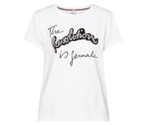 T-Shirt mit Zierperlen