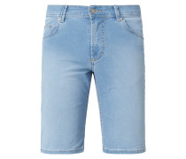 Stone Washed Tapered Fit Jeansshorts