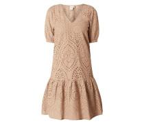 Kleid mit Lochstickereien Modell 'Emmi'
