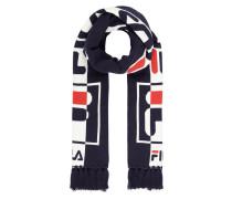Schal mit eingestricktem Logo