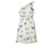 One-Shoulder-Kleid mit Volantbesatz
