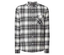 Slim Fit Flanellhemd aus Baumwolle