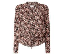 Bluse aus Viskose mit floralem Muster