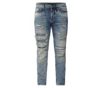 Super Slim Fit Jeans im Destroyed Look