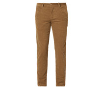 Tapered Fit Cordhose mit Stretch-Anteil