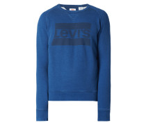 Graphic Crew Sweatshirt Medium Indigo