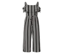 Cold Shoulder Jumpsuit mit Streifenmuster