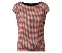 Shirt mit elastischem Saum