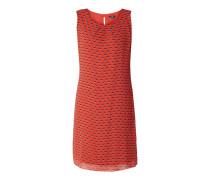 Kleid aus Chiffon mit gelegten Falten