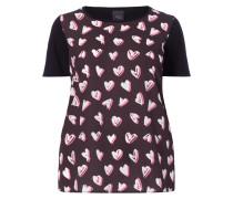 PLUS SIZE - Shirt mit Herzmuster