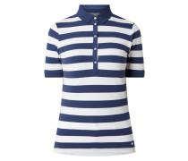 Poloshirt mit Streifenmuster Modell 'Cleo'