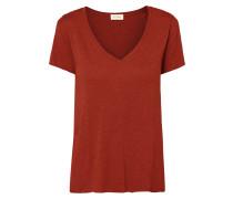 T-Shirt mit offenen Saumabschlüssen