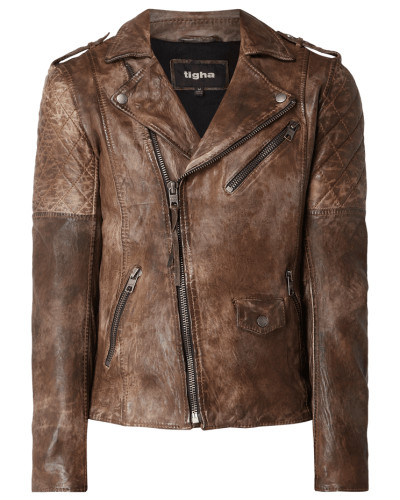 Biker-Jacke aus echtem Leder