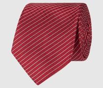Kleid aus Chiffon mit Volantsaum