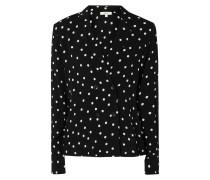 Bluse aus Krepp mit Punktemuster