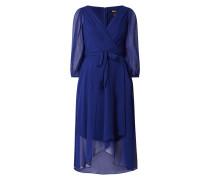 Kleid aus Krepp mit Dreiviertelärmeln