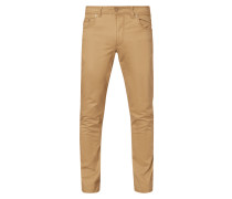 Hose in gerader Passform aus Baumwoll-Elasthan-Mix