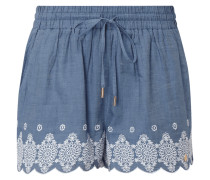 Shorts in Denimoptik mit Stickereien
