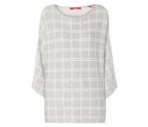 Oversized Pullover mit Gitterkaro