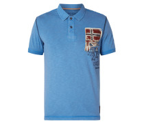 Poloshirt mit Logo-Applikation