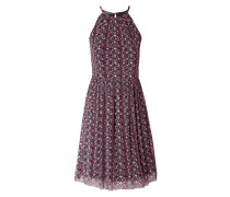 Kleid aus Mesh mit floralem Muster