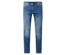 Tapered Fit Jeans mit Stretch-Anteil Modell 'Stanley'