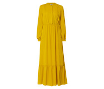 Kleid mit Biesen und Raffungen